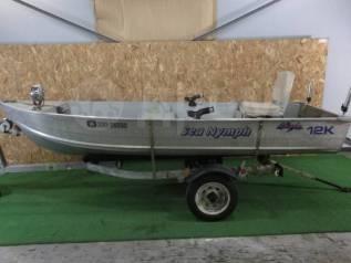 Алюминиевая лодка SEA Nymph 12K с телегой без пробега по водам России