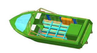 Корпус водометного катера Сапсан 540 под стац. и ПМ