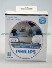 Лампы Philips WhiteVision H7, 55W, 4300K