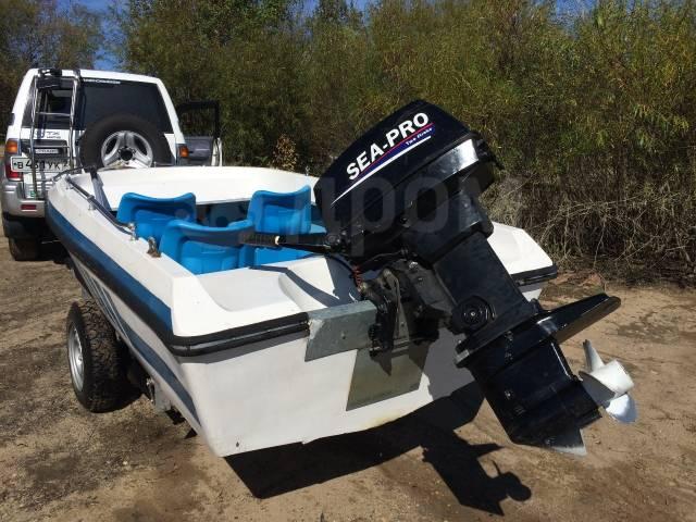 Sea-Pro. 30,00л.с., 2-тактный, бензиновый, нога S (381 мм), 2011 год