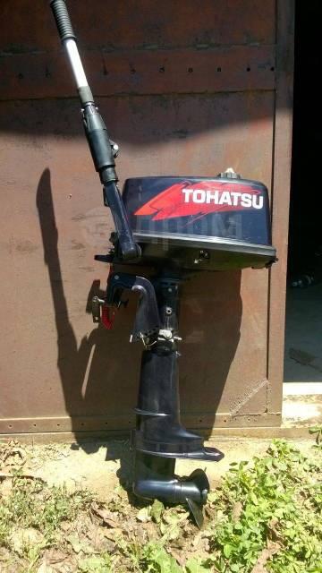 Tohatsu. 5,00л.с., 2-тактный, бензиновый, нога S (381 мм), 2014 год