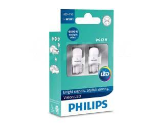 Philips лампы в габариты T10 W5W Vision LED 6000K (2 шт. ). Toyota: Lite Ace, Corona, Ipsum, MR-S, Tundra, Sprinter, Tarago, Starlet, Porte, Echo, Car...