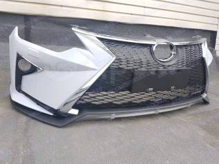 Бампер Toyota Camry v55 (Камри) 2014г+. Стиль Lexus