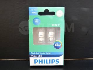 Philips лампы в габариты T10 W5W Vision LED 4000K (2 шт. ). Toyota: Corona, Lite Ace, Ipsum, MR-S, Tundra, Sprinter, Tarago, Starlet, Porte, Echo, Car...