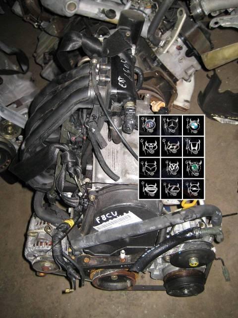 Двигатель в сборе. Daewoo Matiz F8CV