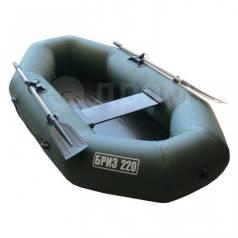 Лодка БРИЗ 220 надувная гребная из ПВХ с мягким дном (зелёная)