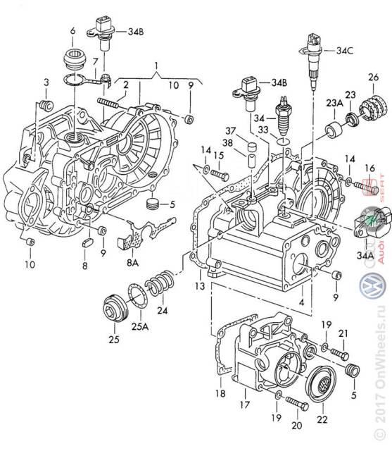 Автоматическая коробка переключения передач на Volkswagen GOLF 3,4 01M300035X