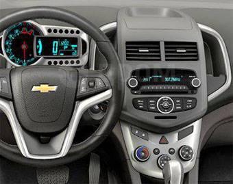 Рамка магнитолы. Chevrolet Aveo, T300 A12XEL, A12XER, A14XER, F16D4, LDV, LSF. Под заказ