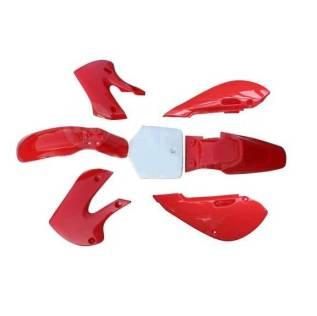 Комплект пластика красный тип KLX