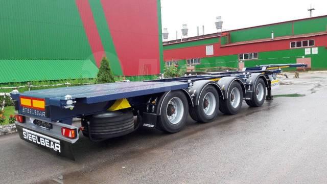 Steelbear. Полуприцеп контейнеровоз SteelBear PF-41N-6, 40 800кг.