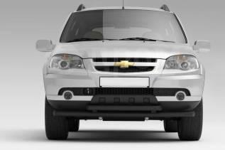 Защита переднего бампера двойная 63/51мм Chevrolet Niva 2009