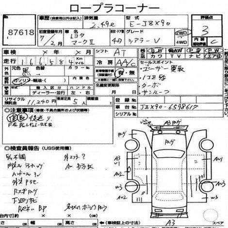 Уплотнительные резинки Mark 2 JZX90 [Cartune] 8132 GX90