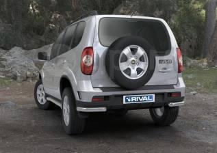 Защита заднего бампера d57 уголки, Chevrolet Niva 2009-