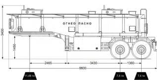 21 м3, полуприцеп цистерна для ГСМ, 2020