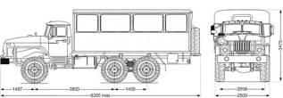 6х6, 230 л.с., 20+1 мест, автобус вахтовый, 2020