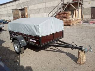 Прицеп легковой Аляска Дачник Самосвал фанерный борт.