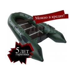 Лодка ПВХ надувная килевая Алтай S360 (зеленый, дно фанера)