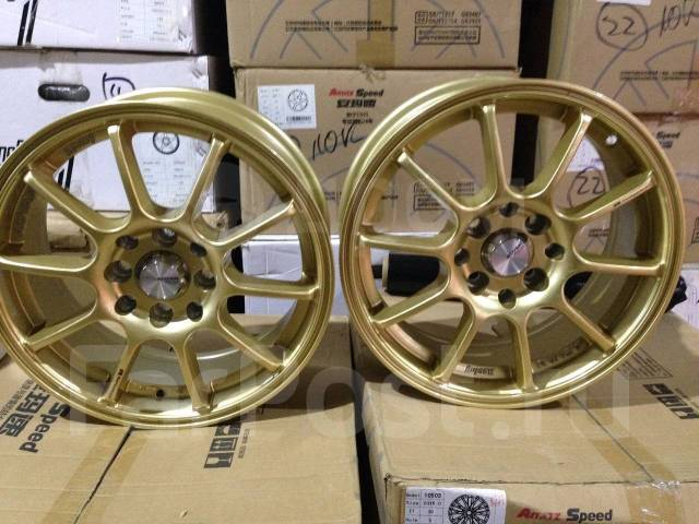 "Advan Racing. 6.0x15"", 4x100.00, 4x114.30, ET38, ЦО 73,1 мм."