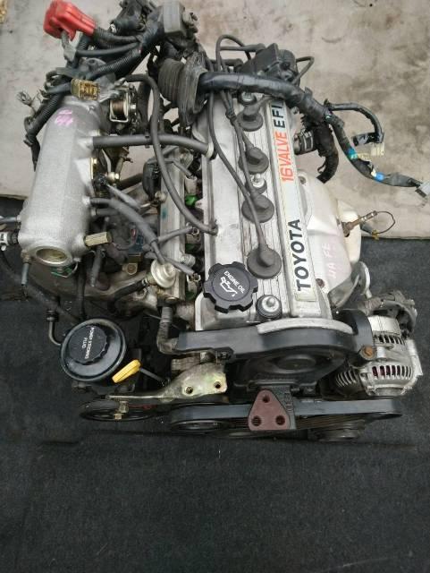 Двигатель в сборе. Toyota Sprinter, AE91, AE92, AE95 Toyota Sprinter Carib, AE95G, AE95 Toyota Corolla, AE90, AE91, AE91G, AE92, AE94, AE95 4AF, 4AFE...