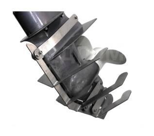 Защита редуктора для Yamaha 9.9F/15F, нержавеющая, максимальная