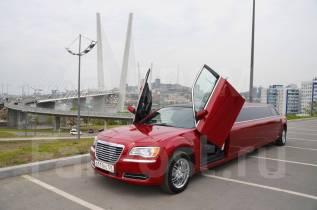 NEW! Мега крутой новый лимузин Chrysler 300c бордового цвета!