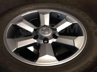"""Отличный комплект колёс для прадо150. 7.5x18"""" 6x139.70 ET25 ЦО 110,1мм."""