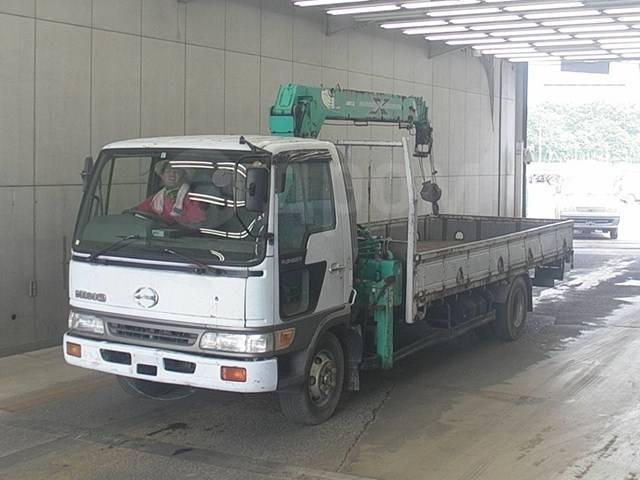 Hino Ranger. Продается грузовик с манипулятором 1998г, 6 630куб. см., 5 000кг., 4x2