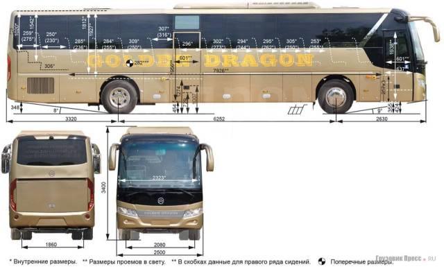 Golden Dragon. Автобус междугородний на метане , 55 мест, В кредит, лизинг