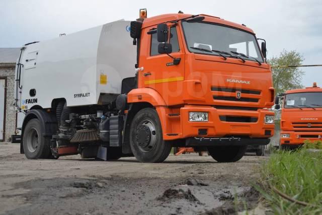 Кургандормаш КО-318. КО-318 (шасси Камаз-53605) (оборудование FAUN Sympajet 6R) пылесос ЕВ, 6 700куб. см.