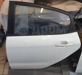 Дверь оригинальная задняя левая Kia Rio III [2011-2017] (белая)