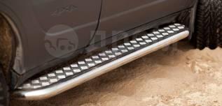 Порог с алюминиевой площадкой Chevrolet Niva 2009-