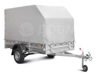 Прицеп для перевозки снегоходов и квадроциклов МЗСА 817715 с тентом