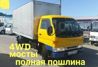 Toyota Dyna. 4WD, мосты, фургон 4 тонны, 4 100куб. см., 4 000кг., 4x4