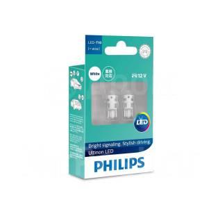 Комплект светодиодных ламп T10 6000K 12V Philips