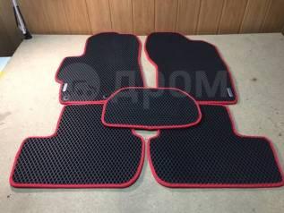 Eva-коврики(Эво коврики) Ваз 2110 2111 2112 комплект (черно-красные)