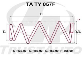 Пружина подвески. Toyota Vanguard, ACA36 Toyota RAV4, ACA30, ACA36, ACA38, ACA31, ACA31W, ACA36W, ACA38L 2AZFE, 1AZFE