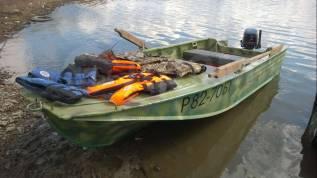 Продам моторную лодку Воронеж с мотором меркурий 30 и прицепом
