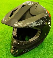 Мотошлем кросс/эндуро, черный, размер M