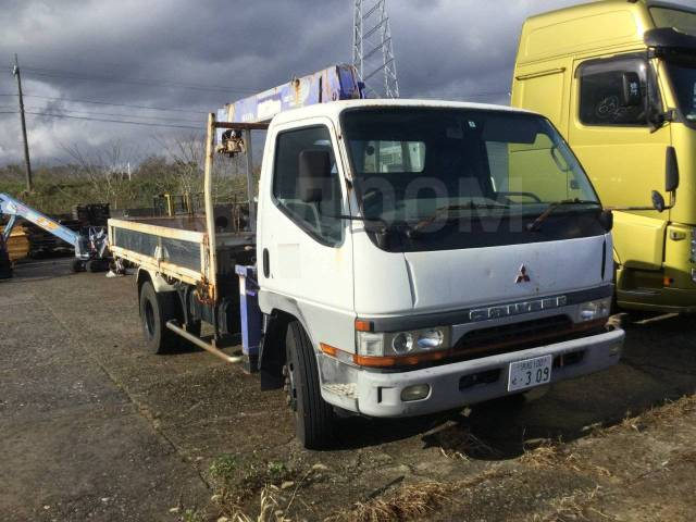 Mitsubishi Fuso Canter. Продам грузовик с манипулятором без ПТС, 4 600куб. см., 3 000кг., 4x2