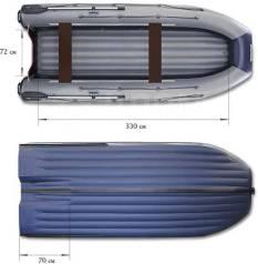 Лодка надувная Водометная ПВХ Флагман DK390 IGLA JET, НДНД, с Тоннелем
