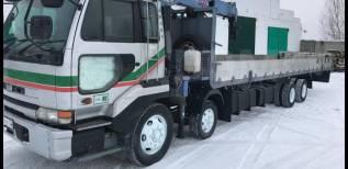 Nissan Diesel Condor. Продаю грузовик кран 3т борт 12т дл. борта 9.5метров, низкорамник, 13 000куб. см., 12 000кг., 8x4