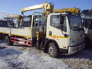 FAW. TigerV- бортовой грузовик 4*2 мод CA1066P40K2E5A84 с КМУ XCMG 3.2т, 4 087куб. см., 6 300кг., 4x2