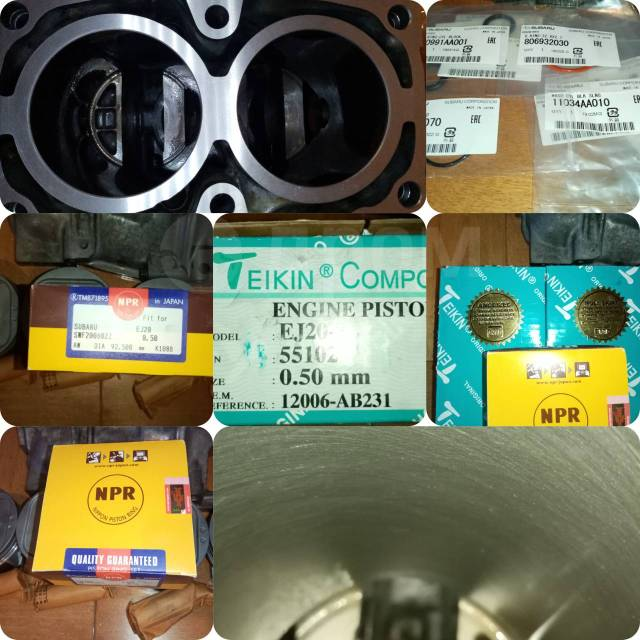 Блок цилиндров ej205/207 (комплект для сборки)