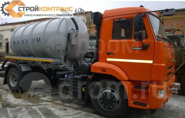 КамАЗ 43253. Вакуумная цистерна ассенизатор 7-8м3 Камаз-43253-69, 4 430куб. см. Под заказ