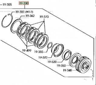 Барабан сцепления АКПП Mazda/Ford (Комплект) Original
