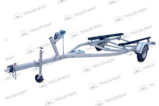 Прицеп для лодки ПВХ РИБ или катера до 6,1 м усил-й на ложементах R14