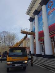 Услуги автовышек 21 метр и автокранов 7-25 тон ( Артем, Владивосток)