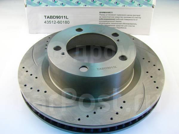 Передние новые правый/левый перфорированные диски для LX570/TLC200.