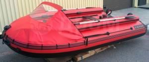 Надувная лодка X-Grace WIND 420 в комплектации с фальшбортом и тентом