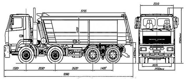 МАЗ 6516. Продам Самосвал 8х4 МАЗ-6516С9-580-000 2020г. в., 28 500кг., 8x4